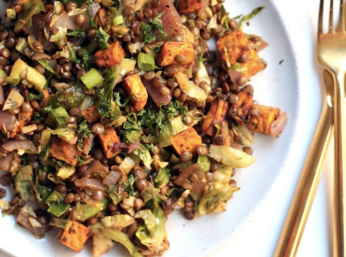 loaded lentil salad recipe