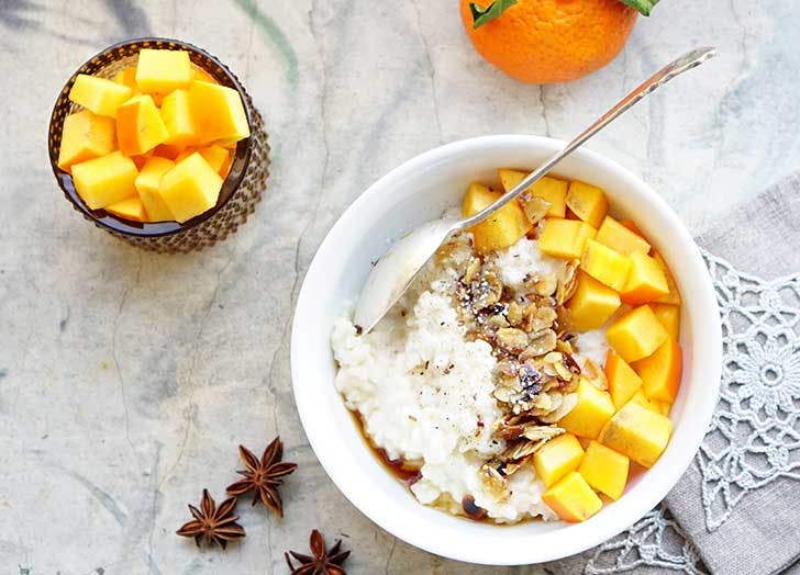 low carb yogurt mango granola