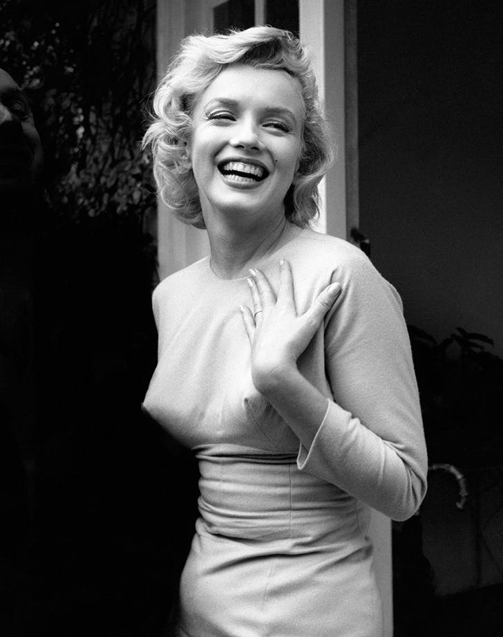 marylin monroe wearing a bullet bra in the 50s