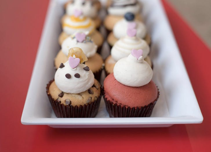 mini cupcakes on a plate