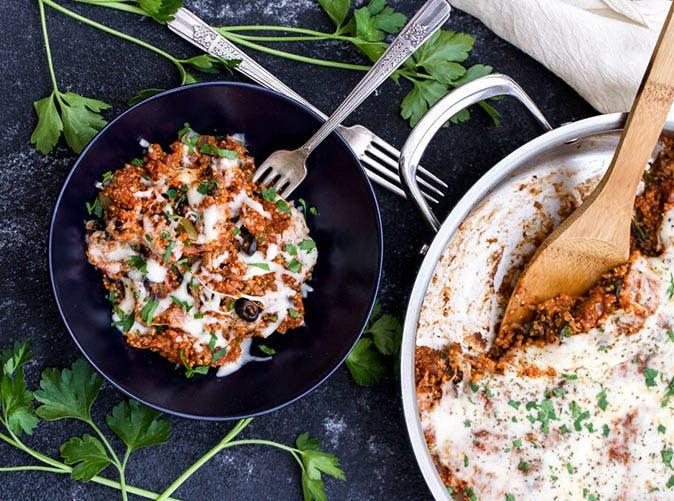one pot supreme pizza quinoa casserole