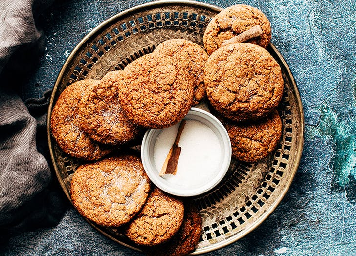 plate of spice cookies