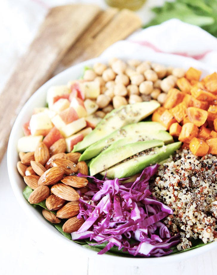 power salad with lemon chia seed dressing recipe