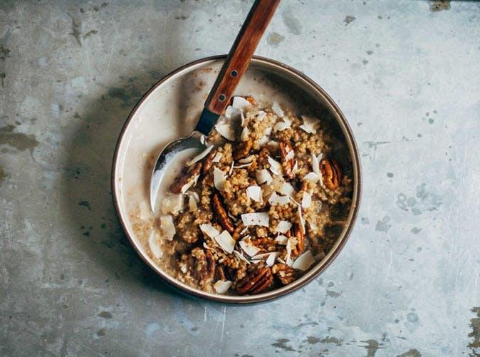 quinoa chai spiced almond milk cinnamon