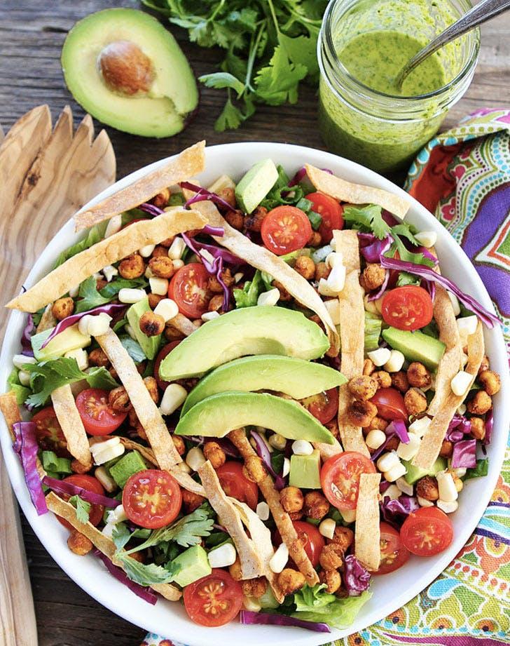 roasted chickpea taco salad recipe