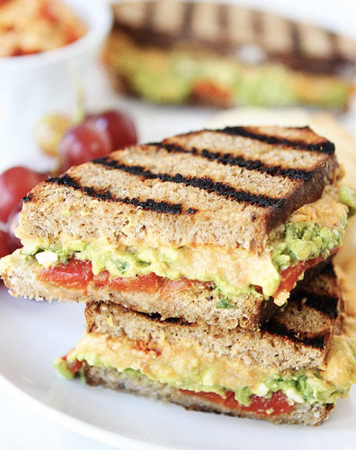 roasted red pepper hummus avocado sandwich recipe