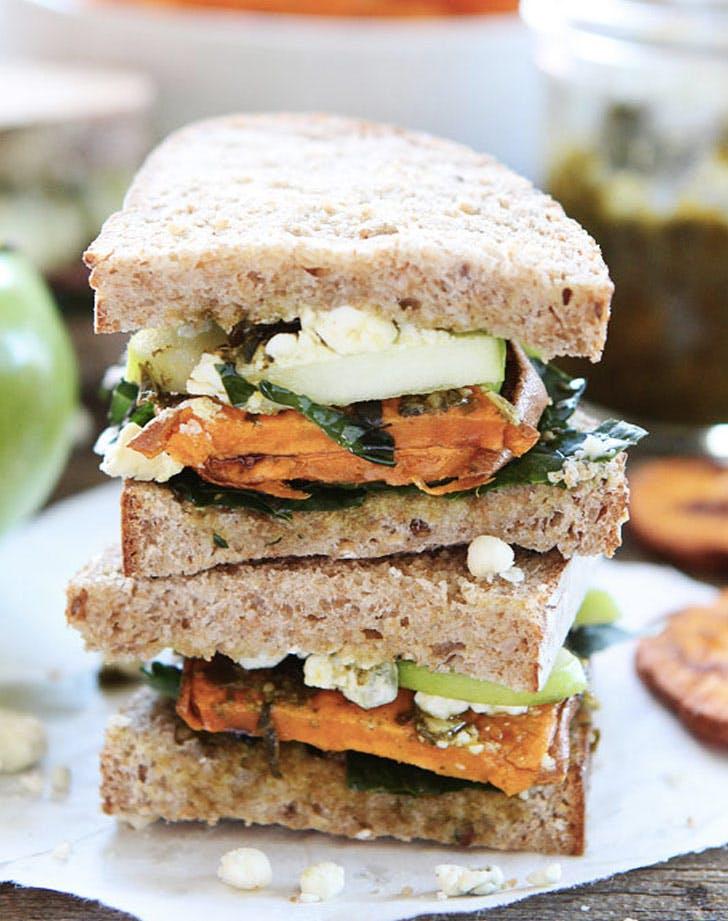 roasted sweet potato apple kale sandwich recipe