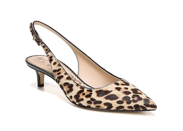 sam edelman leopard print slingback kitten heels
