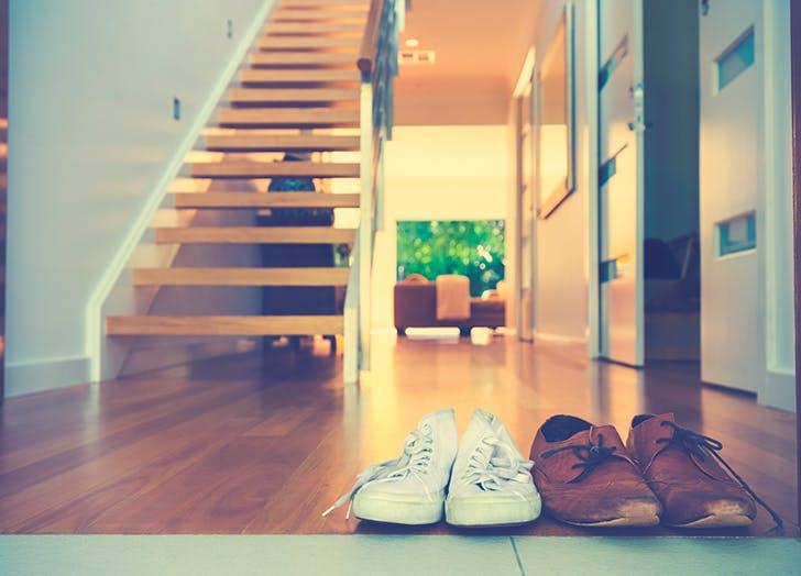 shoes by door