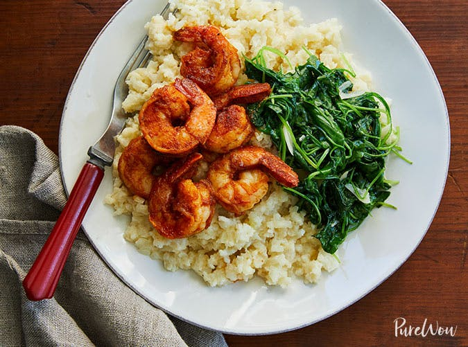 shrimp with cauliflower grits recipe
