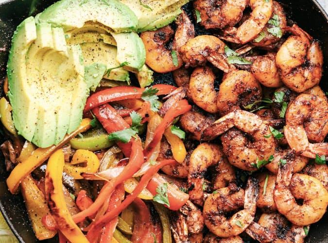 skillet blackened shrimp fajitas recipe
