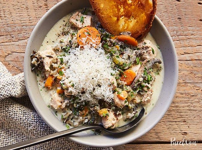 slow cooker creamy chicken wild rice soup recipe