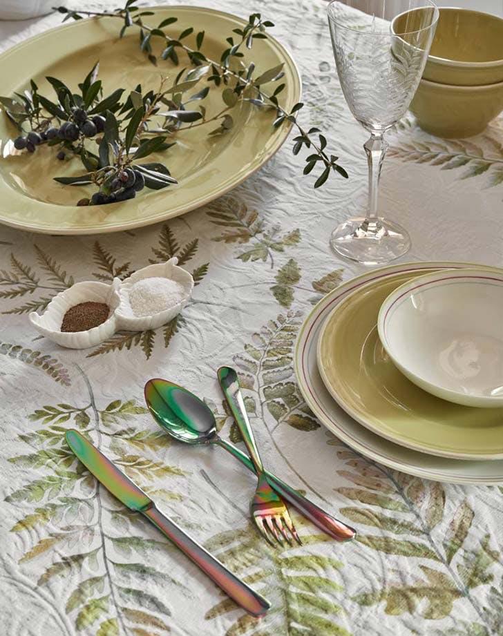 spring tabletop green zara