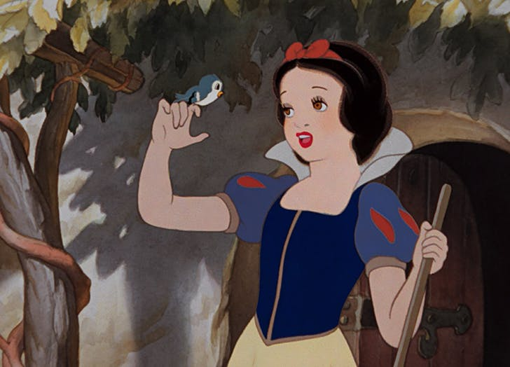 still from animated movie snow white