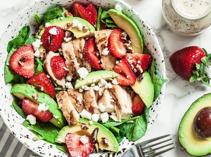 strawberry avocado chicken salad poppyseed dressing recipe