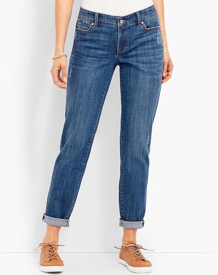 talbots petite boyfriend jeans