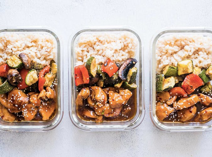 teriyaki chicken stir fry meal prep lunch box recipe