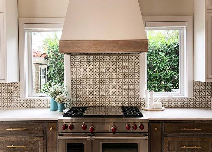 textural tiles kitchen