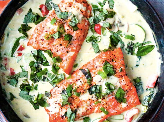 thai coconut green curry salmon recipe