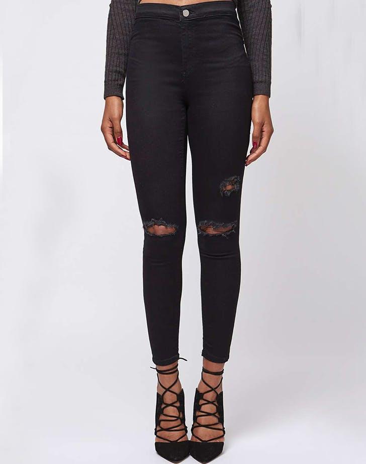 topshop petite black moto skinny jeans