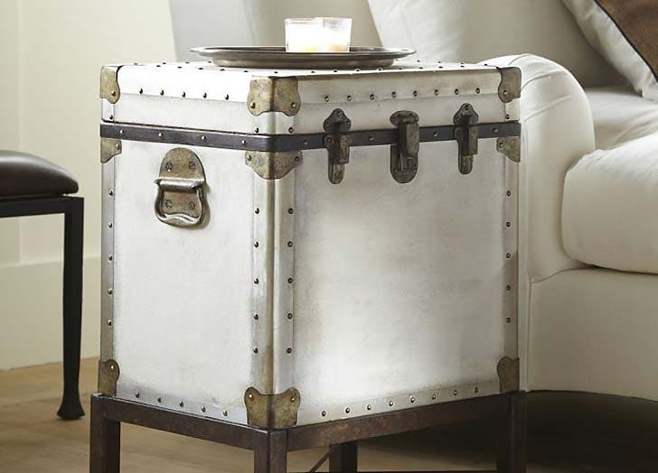 trunk as side table