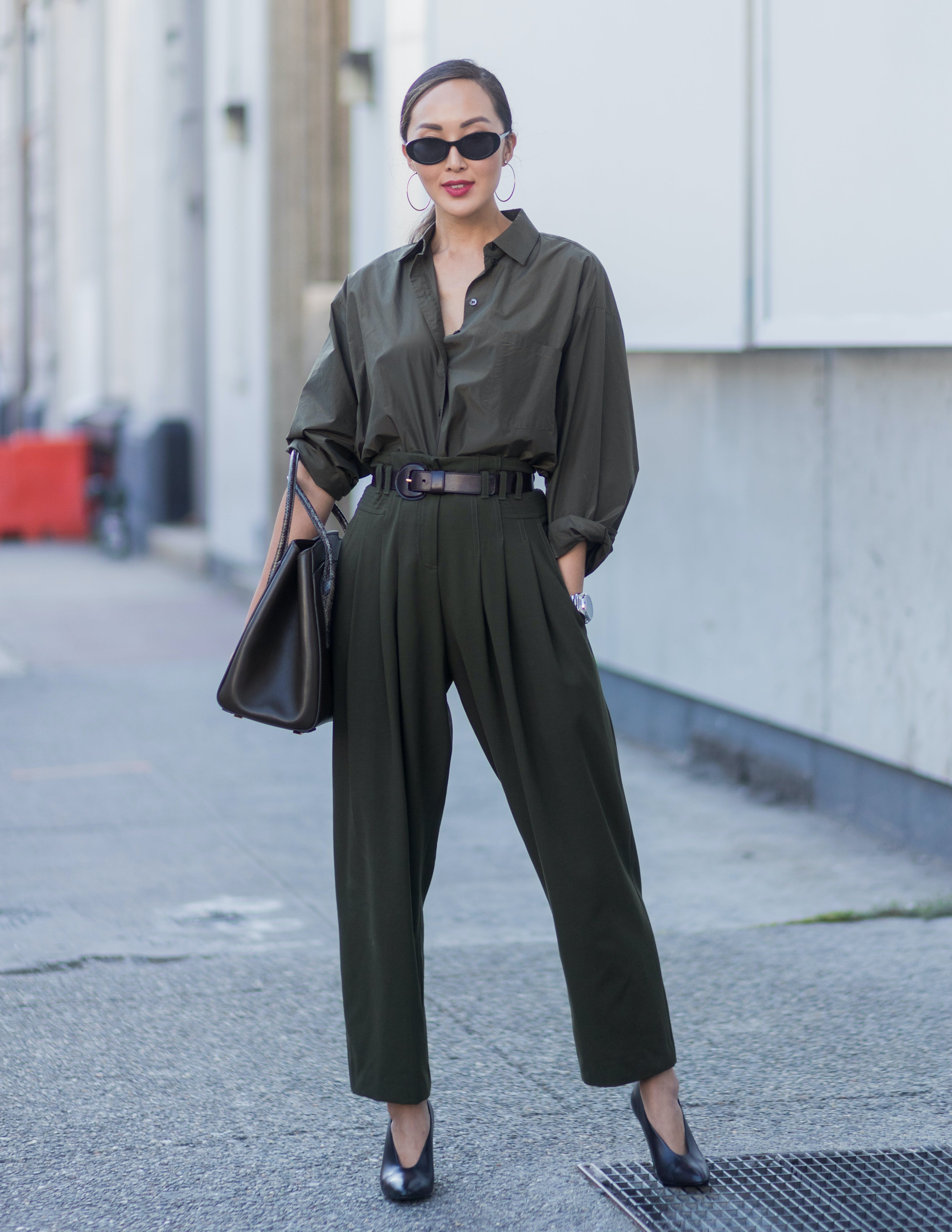 try wearing a green boiler suit1