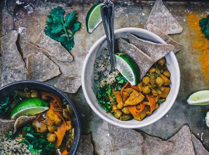 vegan coconut curry quinoa