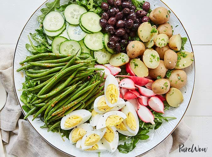 veggie nicoise salad with red curry green beans recipe