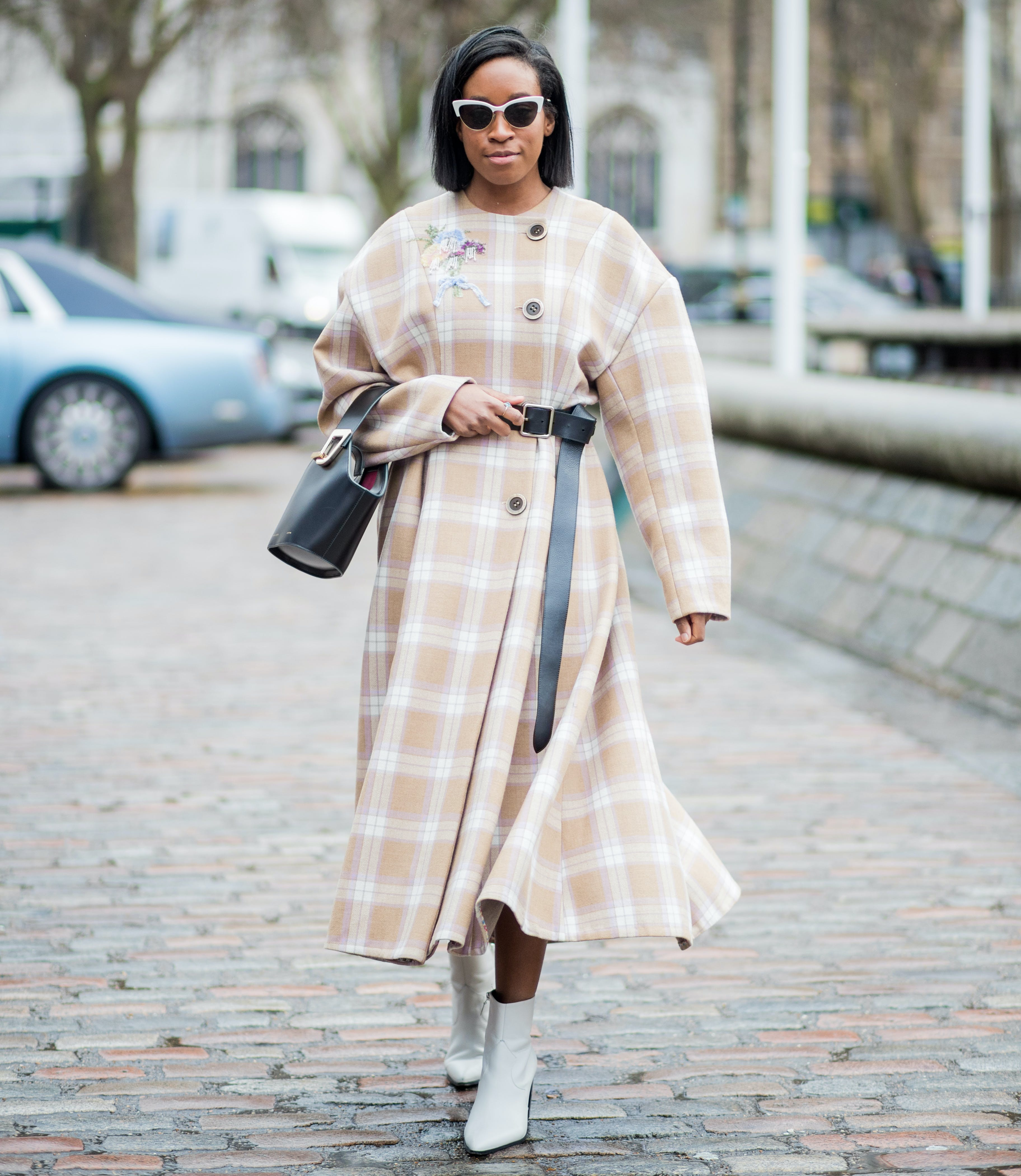 wear a bold belt over your coat