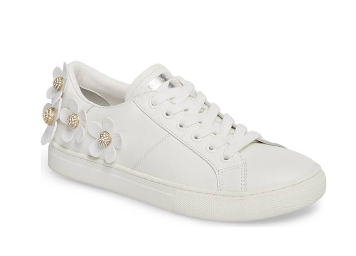 white marc jacobs sneakers with flowers