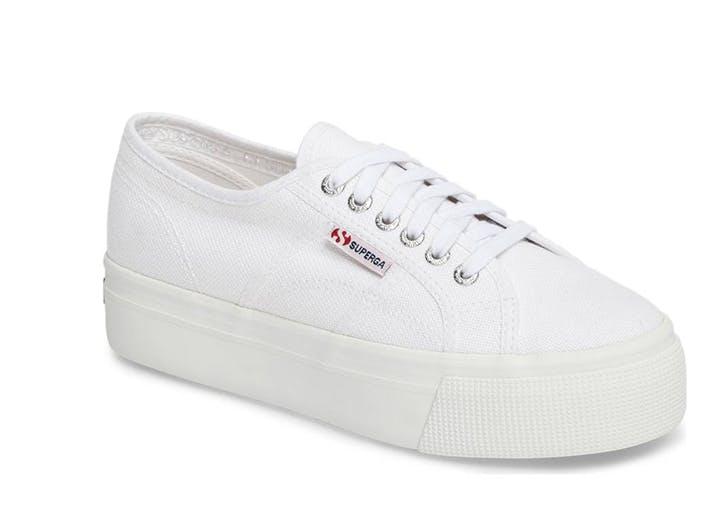 white superga platform sneakers