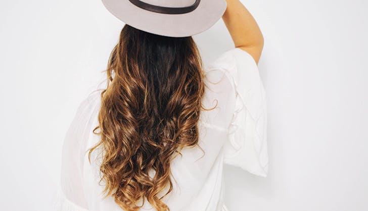 woman with pretty air dried hair