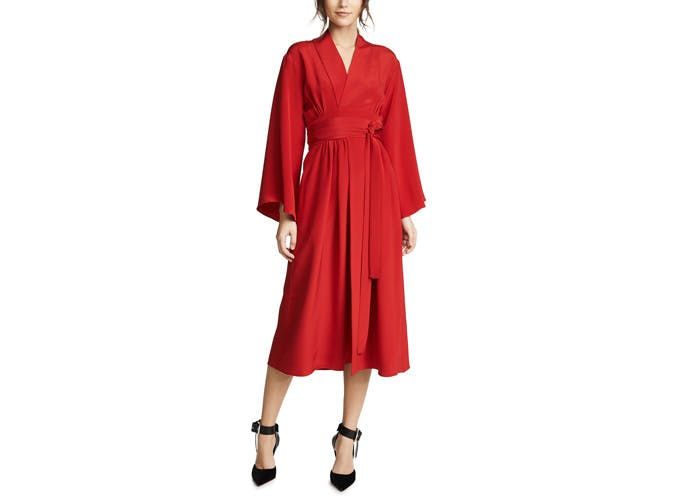 Adam Lippes Red Kimono Dress