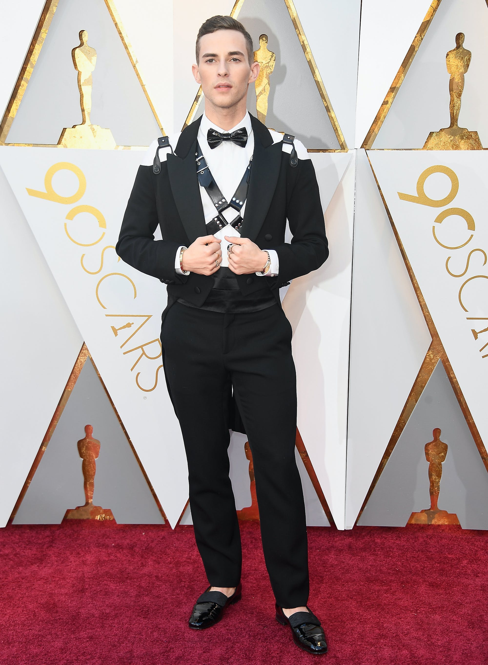 Adam Rippon at the 2018 Oscars