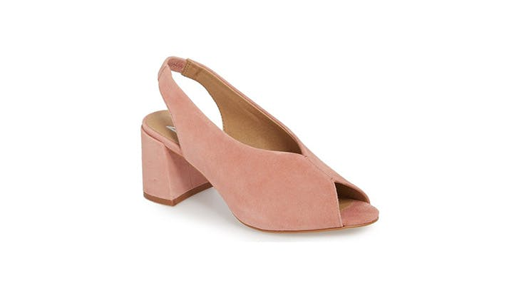 Anthropologie Pink Slingbacks