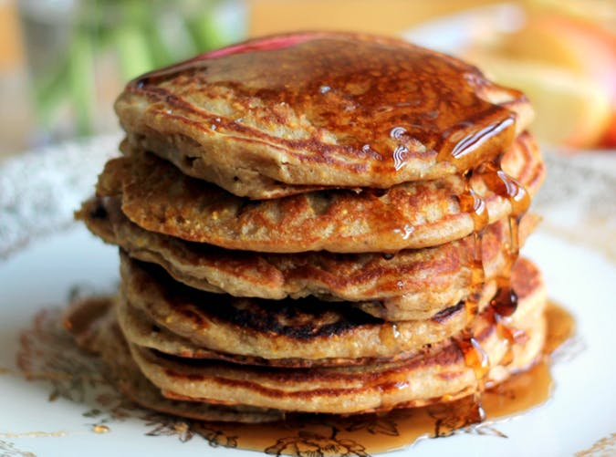 Apple Cider Sausage Pancakes recipe