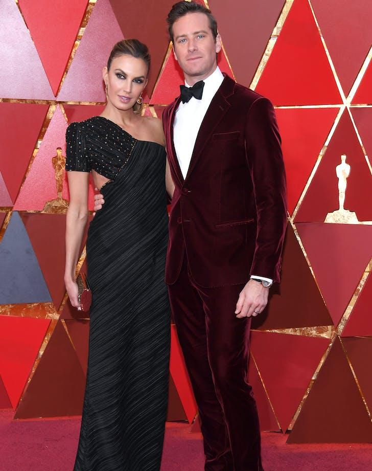 Armie Hammer Elizabeth Chambers 2018 Oscars red carpet