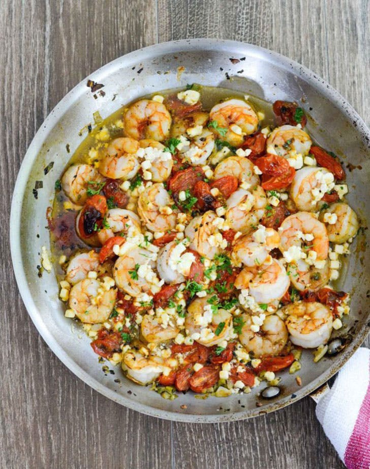 Baked Shrimp with Tomato and Feta Spring Dinner