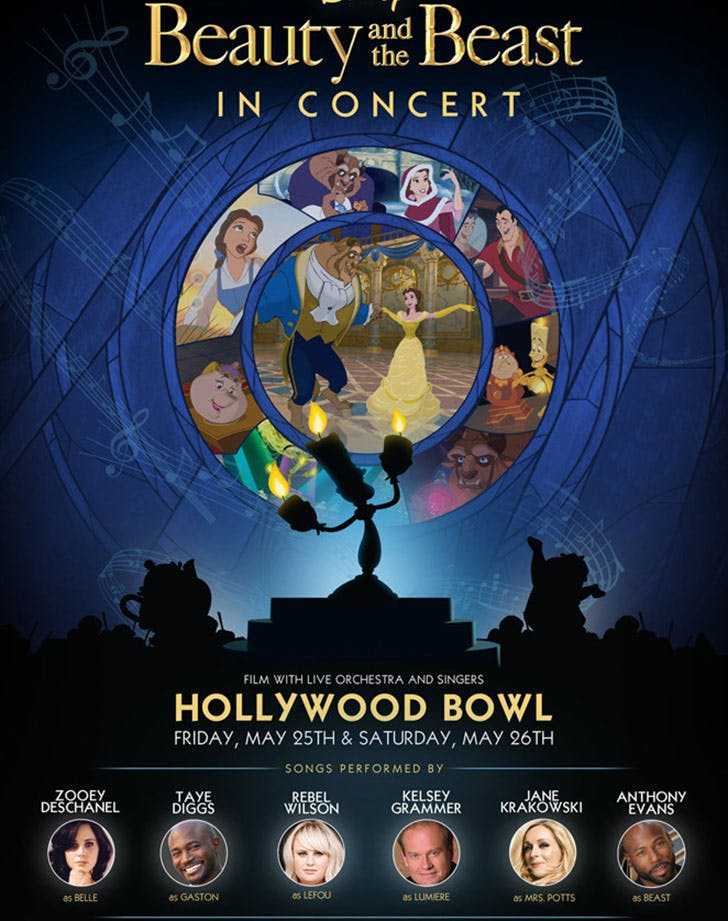 Beauty and the Beast Hollywood Bowl Poster1