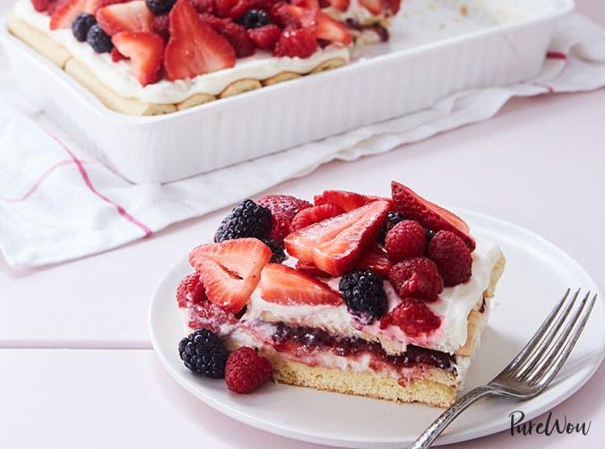 Berry Tiramisu Easter dessert