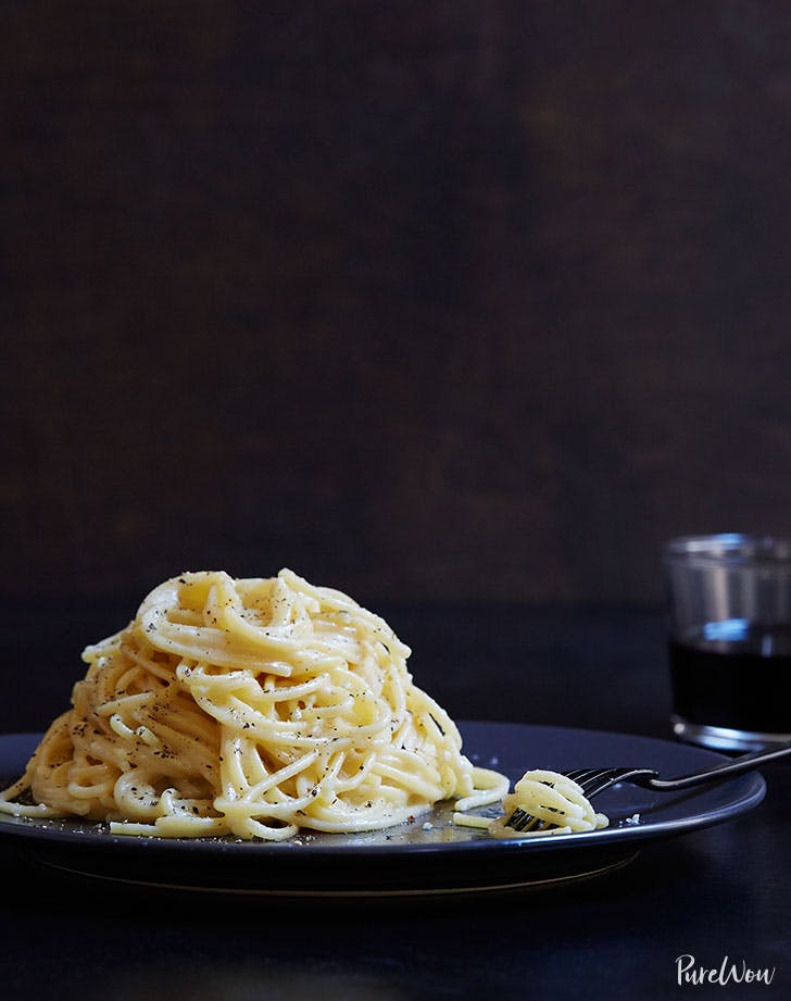 Cacio e pepe spring dinner pasta