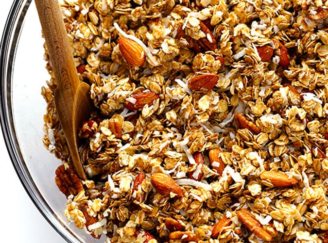 Chai Spiced Granola with cardamom recipe
