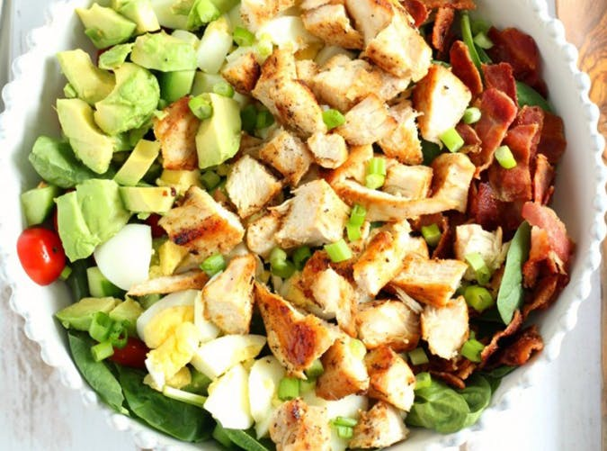 Chicken Cobb Salad with Buffalo Ranch ketogenic recipe