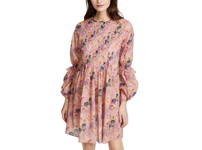 Cynthia rowley long sleeve mini dress