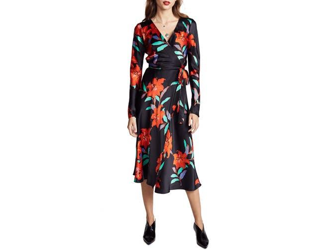 DVF Wrapped Midi dress