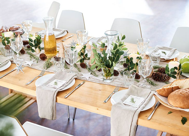 Decorated table setting