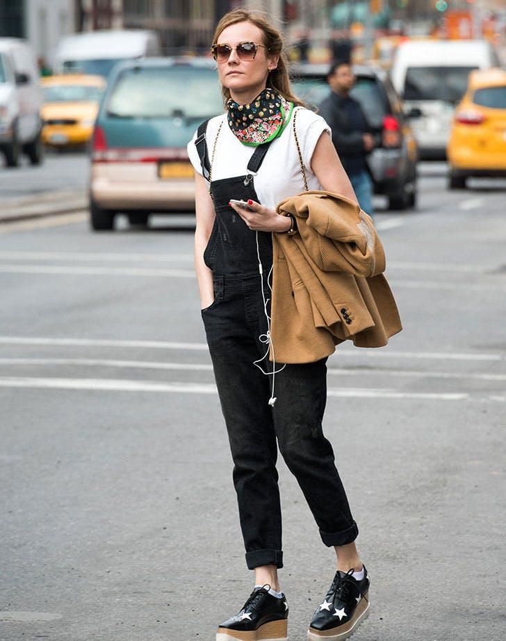 Diane Kruger wearing a bandana