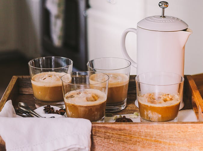 Dirty Chai Affogato with cadamom recipe