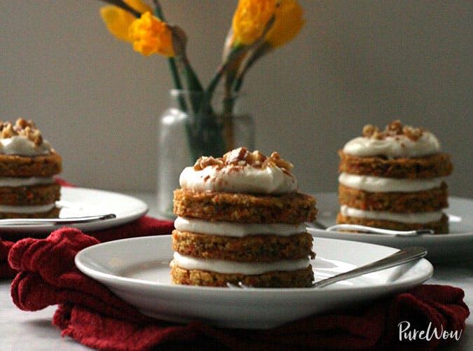 Easter mini desserts carrot cake