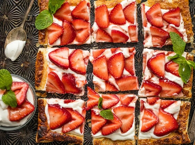 Easy Puff Pastry Strawberry Tart recipe